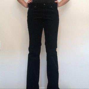 Black Corduroy Loft Pants